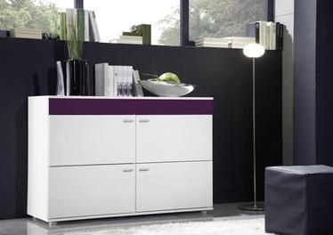Комод Cama Meble Logo II 120 White/Violet Gloss, 120x42x78 см