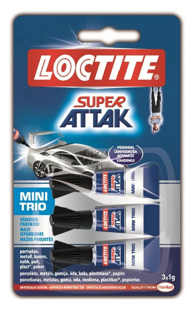 Henkel Makroflex Super Attak Mini Trio Glue 3x1g