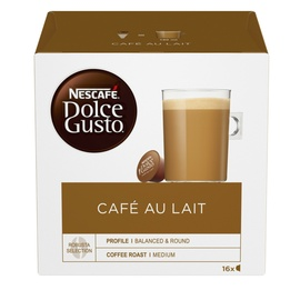 Кофе в капсулах Nescafe Dolce Gusto Cafe Au Lait, 16 шт.