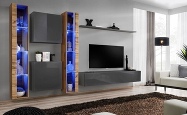 ASM Switch XVI Wall Unit Graphite/Wotan Oak