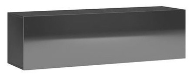 Vivaldi Meble Vivo 03 Wall Shelf Black/Black Gloss