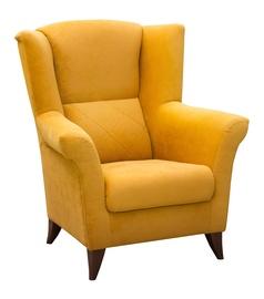 Atzveltnes krēsls Idzczak Meble Kent Yellow, 94x75x105 cm