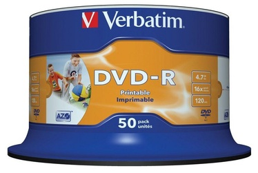 Verbatim DVD-R AZO 16x 4.7GB Wide Printable 50P Spindle