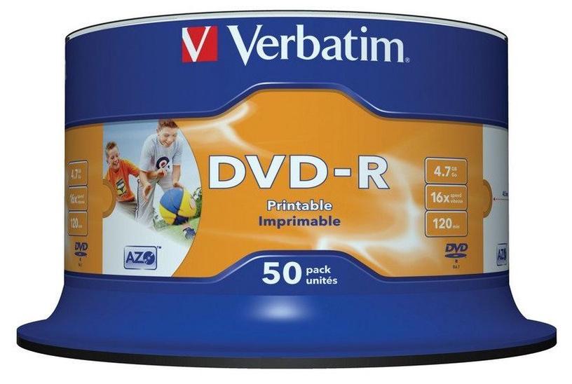 Verbatim DVD-R AZO 16x 4.7GB Wide Printable 50P Spindle