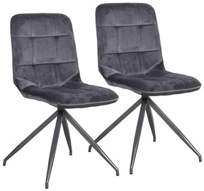 Ēdamistabas krēsls Home4you Rimini Grey, 2 gab.