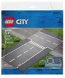 Конструктор LEGO® City 60236 Прямой и Т-образный перекрёсток