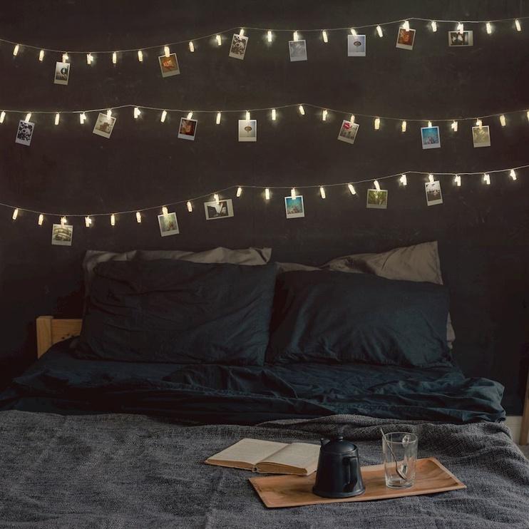 Spuldzīšu virtenes DecoKing LED Photo Clips 60pcs