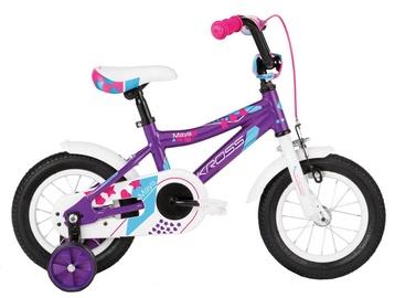 """Bērnu velosipēds Kross Maya 12"""" Violet Blue Pink Glossy 18"""