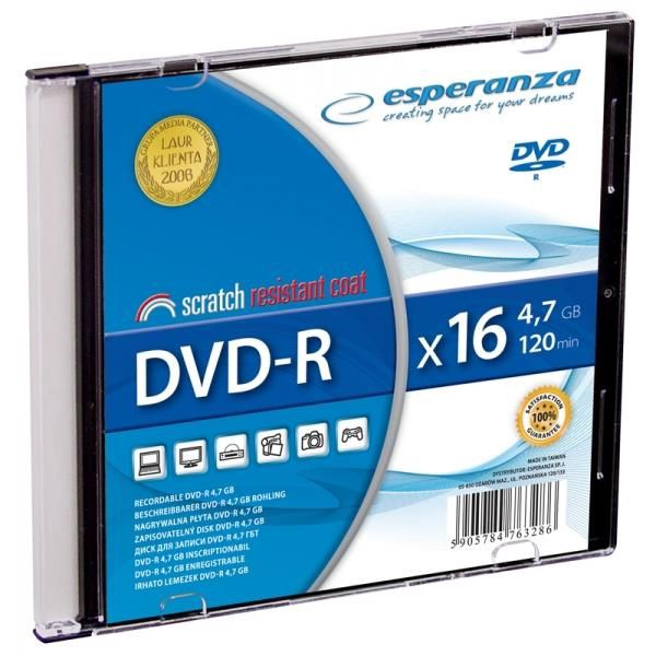 Esperanza 1113 DVD-R 16x 4.7GB Slim Jewel Case 200pcs
