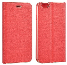 Vennus Smart Magnetic Fix Book Case For Apple iPhone X Red