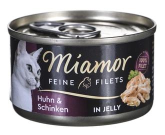 Mitrā kaķu barība (konservi) Miamor Cats Moist Food 100g Chicken With Ham