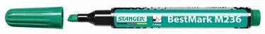 Stanger M236 BestMark Permanent Marker 1-4mm 10pcs Green 712007