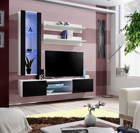 Dzīvojamās istabas mēbeļu komplekts ASM Fly S2 Black/White