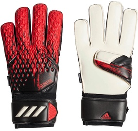 Adidas Predator Fingersave Gloves Black/Red FH7293 Size 10