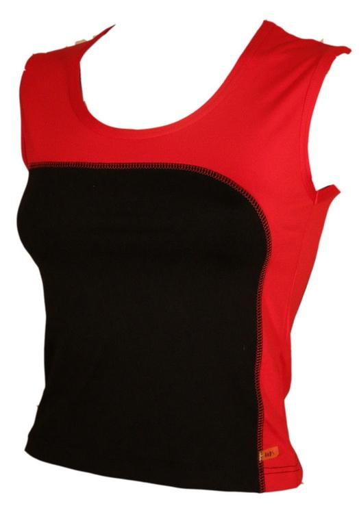 Bars Womens Top Black/Red 123 L