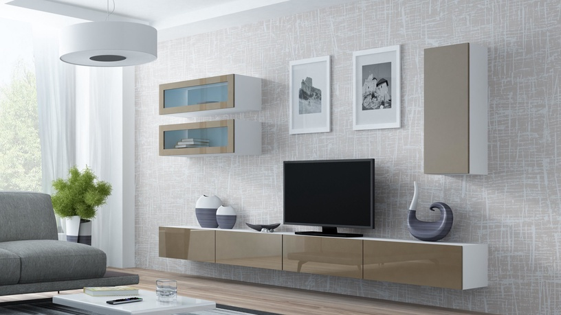 Cama Meble Vigo 90 Full Cabinet White/Latte Gloss