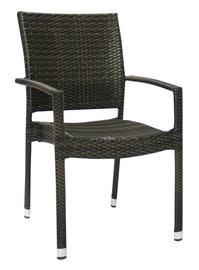 Home4you Wicker 3 Garden Chair Dark Brown