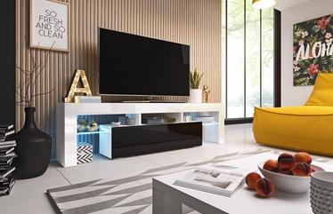 ТВ стол Cama Meble Toro 158, белый/черный, 1580x400x410 мм