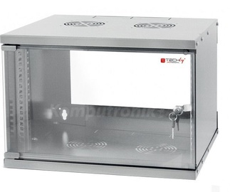 Techly Wallmount Cabinet ECO 19'' Grey