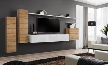 ASM Switch I Wall Unit White/Wotan Oak