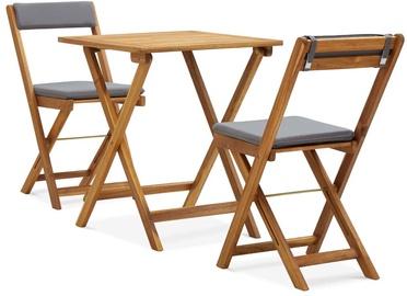 Āra mēbeļu komplekts VLX 3 Piece Folding Bistro Set With Cushions 310275