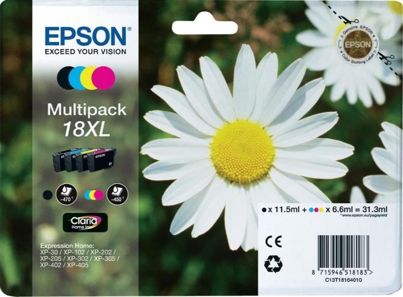 Epson T1816 Cartridge 11.5ml Black 6.6ml Cyan Magenta Yellow