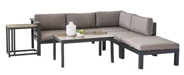 Āra mēbeļu komplekts Masterjero Tulle 501962209, melns/brūns, 5 sēdvietas