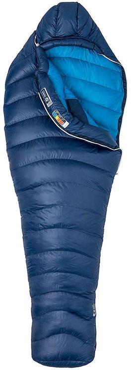 Guļammaiss Marmot Phase 20 Long LZ Navy/Mykonos Blue, kreisais, 219 cm