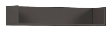 Black Red White Graphic Wall Shelf Dark Gray