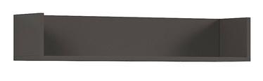 Sienas plaukts Black Red White Graphic, pelēka, 85.5x20x16 cm