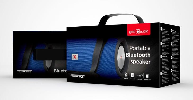 Bezvadu skaļrunis Gembird SPK-BT-06 Blue, 10 W