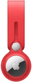 Apple AirTag Leather Loop Red