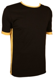 Bars Mens T-Shirt Black/Yellow 168 M