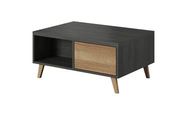 Kafijas galdiņš Idzczak Meble Laos 07 Black Pine/Riviera Oak, 1100x500x500 mm