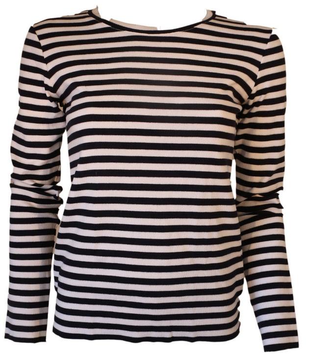 Bars Long Sleeve Shirt Black/White 156 XS