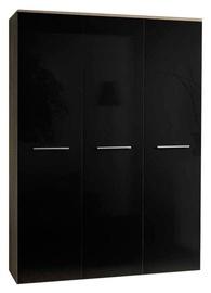 Skapis ASM Big Sonoma Oak/Black, 135x55x190 cm