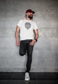 Dinamo Rīga Men T-Shirt White/Black M