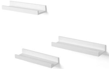 Songmics Wall Shelf Set White 3pcs