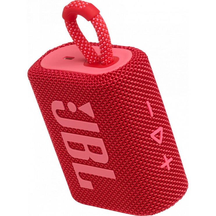 Bezvadu skaļrunis JBL GO 3, sarkana, 4 W