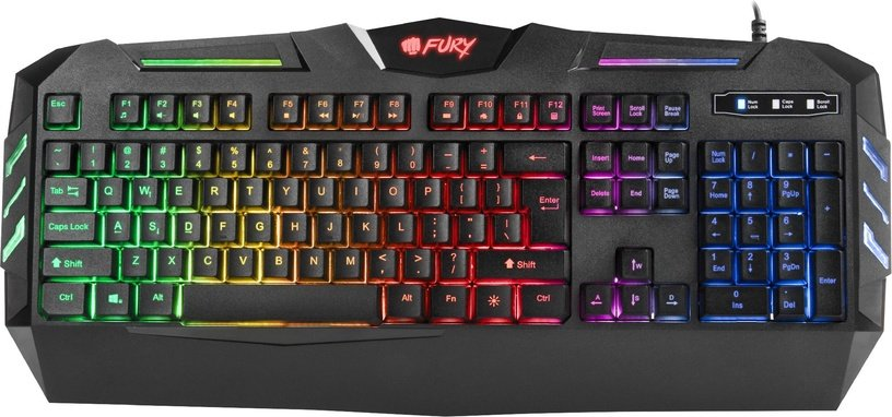 Fury Spitfire Gaming Keyboard US Black