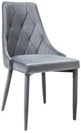 Ēdamistabas krēsls Signal Meble Trix Velvet Gray, 1 gab.
