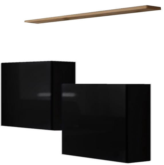 ASM Switch SB I Hanging Cabinet/Shelf Set Black/Wotan