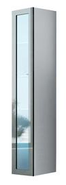 Cama Meble Vigo 180 Glass Case White/Grey Gloss