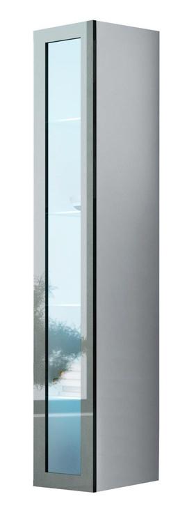 Cama Meble Vigo 180 Glass Case White/Grey Gloss