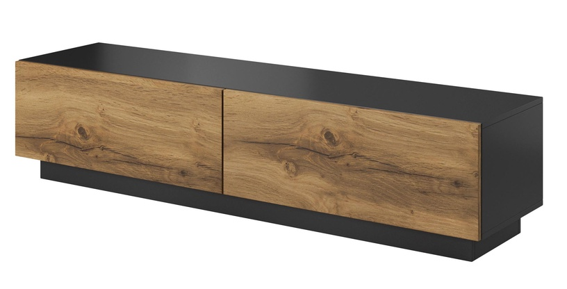 ТВ стол Halmar Livo RTV 160S, коричневый/черный, 1600x400x380 мм