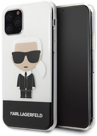 Karl Lagerfeld Iconic Karl Back Case For Apple iPhone 11 Pro Transparent