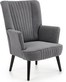 Atzveltnes krēsls Halmar Delgado Grey, pelēka, 75 cm x 70 cm x 100 cm