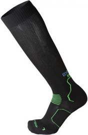 Mico Long Running Socks Oxi Jet Black/Green 38-40