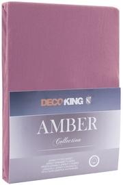 DecoKing Amber Bedsheet 140-160x200 Plum