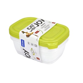 Rotho Hermetic Containers 1l 3pcs Green